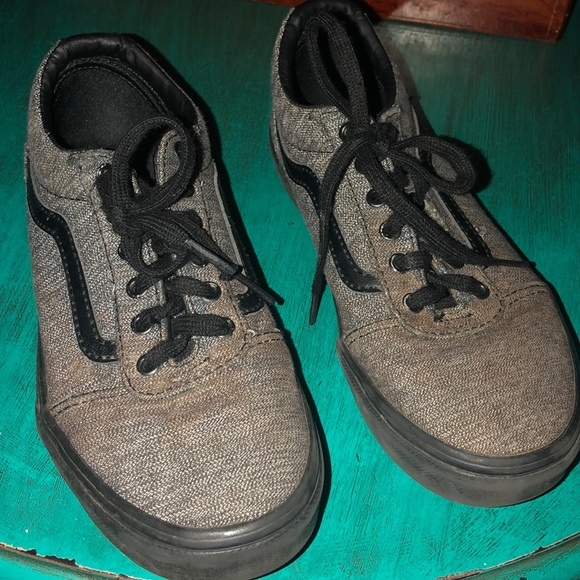 Vans Other - Gray and black Vans shoes